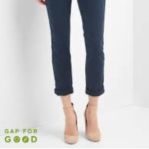 Gap Girlfriend Twill Stripe Chinos Indigo Navy 0